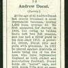 Andrew Ducat. (Surrey.).