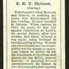E. R. T. Holmes. (Surrey.).