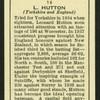 L. Hutton.