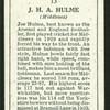J.H.A. Hulme.