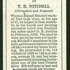 T.B. Mitchell.