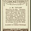 J.M. Taylor.