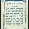 J.V. Saunders.
