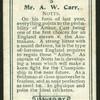 Mr. A.W. Carr.