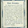 Hair brooms!
