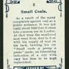 Small coale.