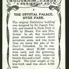 The Crystal Palace, Hyde Park.