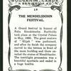 The Mendelssohn festival.