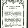 Dr. Carver's rifle shooting.
