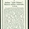 Indian cliff palace, Colorado.