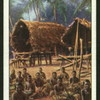 Native huts, South Sea Is.