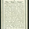 The boar's head.