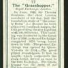 The grasshopper.