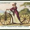 Lady's pedestrian hobby-horse.