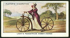 Lady's pedestrian hobby-horse. Digital ID: 1195098. New York Public Library