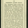 Simpson lever chain.