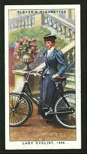 Lady cyclist, 1896. Digital ID: 1195144. New York Public Library