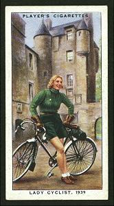 Lady cyclist, 1939. Digital ID: 1195150. New York Public Library