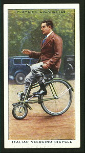 Italian velocino bicycle. Digital ID: 1195154. New York Public Library
