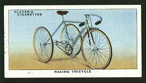 Racing tricycle. Digital ID: 1195158. New York Public Library