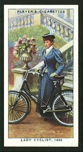 Lady cyclist, 1896. Digital ID: 1195204. New York Public Library