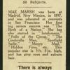 Mae Marsh.