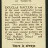 Douglas Maclean.