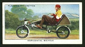 Horizontal bicycle. Digital ID: 1196248. New York Public Library