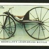 Macmillan's lever-driven bicycle.