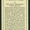 The first pneumatic-tyred bicycle.