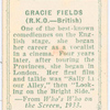 Gracie Fields.