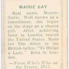 Maisie Gay.