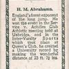 H.M. Abrahams.