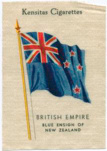 Blue ensign of New Zealand.