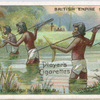 Aboriginals spearing fish in Australia.