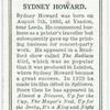 Sydney Howard.