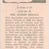 Albert medal.