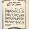 Lord Asquith, Earl of Oxford.