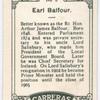 Earl Balfour.