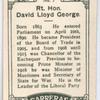 Rt. Hon. David Lloyd George.