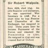 Sir Robert Walpole.