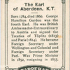 The Earl of Aberdeen, K.T.