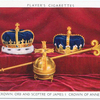 Crown, orb and sceptre of James I; crown of Anne.