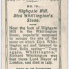 Dick Whittington Stone, Highgate Hill.