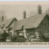 Ann Hathaway's cottage, Stratford-on-Avon.