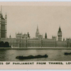 Houses of Parliament from Thames, London.