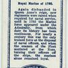 Royal Marine, of the year 1760.