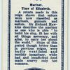 Mariner, time of Queen Elizabeth.