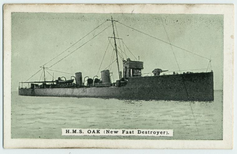 H.M.S. Oak (new fast destroyer).