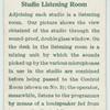 Studio listening room.